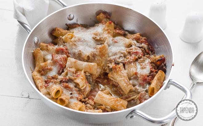 Favorito Rigatoni al forno con carne macinata - ricetta - Tapenda.it XK75